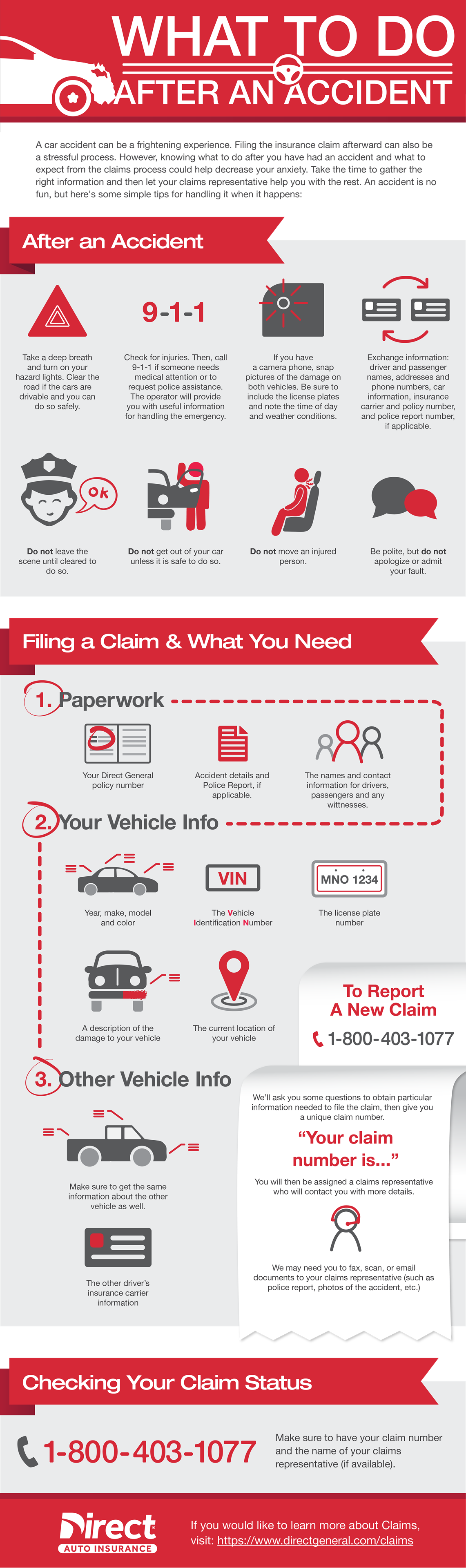 What to do after a car accident and how to file a claim with Direct.